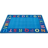 A-Z Circle Time Seating Rug; 6x9, Rectangle