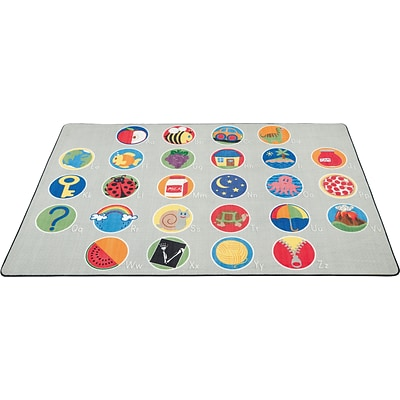 A-Z Activity Seating Rug; 6x9, Rectangle