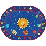 Out of This World Alphabet Rug; 6x9. Oval