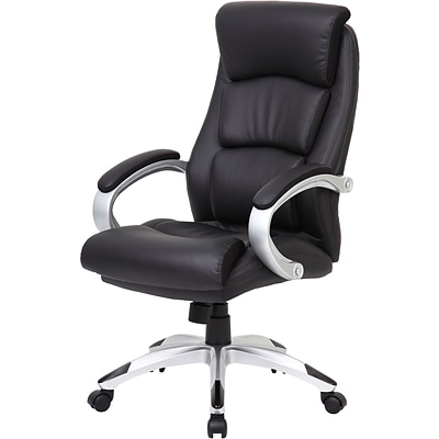 Boss® Leather Executive Chair, B8981 Series, Black