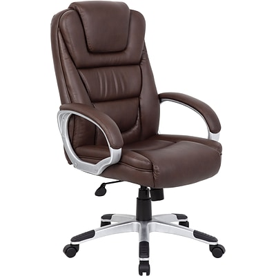 Boss® Leather Executive Chair, B8601 Series, Bomber Brown