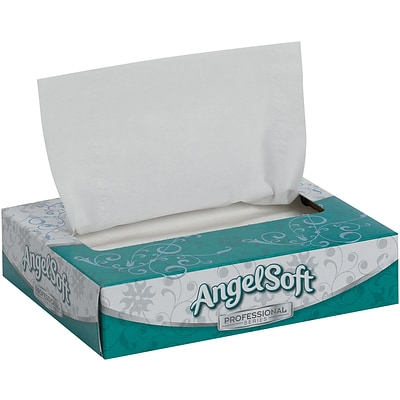 Angel Soft® Personal Size Facial Tissue, 50 Sheets/Box, 60 Boxes/Carton