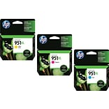 HP 951XL (CR318BN) High Yield Cyan/Magenta/Yellow Inkjet Cartridge Multi-pack (3 cart per pack)