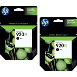 HP 920XL (CN701BN) High Yield Black Ink Cartridge Multi-pack (2 cart per pack)