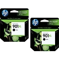 HP 901XL (CZ721BN) High Yield Black Ink Cartridge Multi-pack (2 cart per pack)