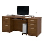 Bestar® Embassy 71 Executive Desk Kit in Tuscany Brown
