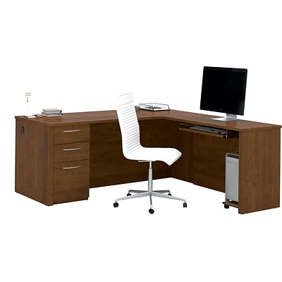 Bestar® Embassy 71 L-shaped Desk in Tuscany Brown