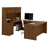 Bestar® Embassy 71 U-shaped Desk in Tuscany Brown