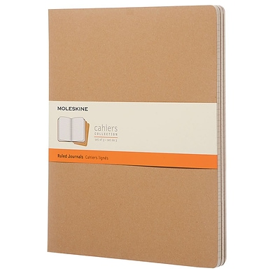 Moleskine, Cahier Journals, Extra Exta Large, Ruled, Kraft Brown (851473)