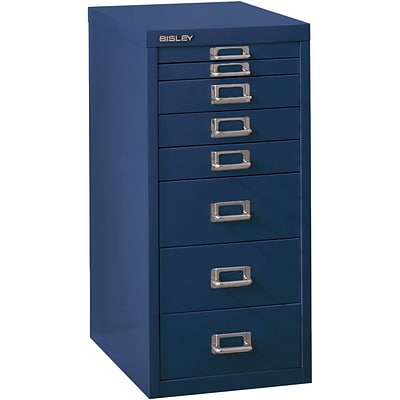 Bisley Eight Drawer Steel Multidrawer, Navy, Letter/A4 (MD8-NV)