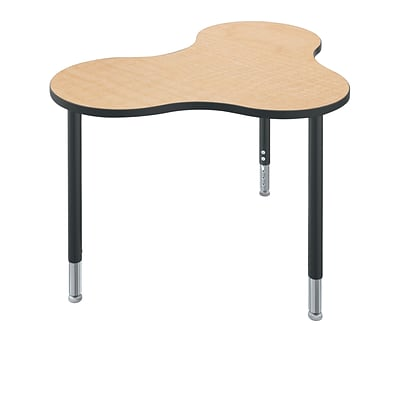 Balt Cloud 9 Configurable Table System, Maple Fusion Top, Black Legs, 22 - 32H x 47.9W x 33.87D