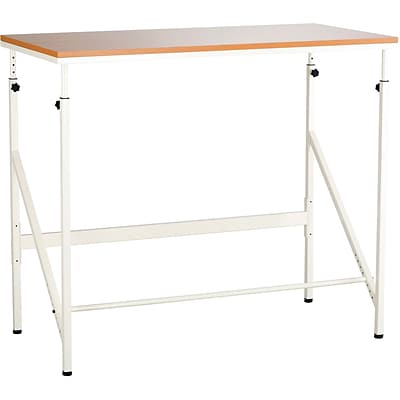 Safco® Elevate™ Standing-Height Desk, Beech/White