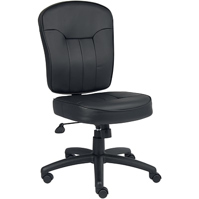 Boss® Black Leather Task Chair
