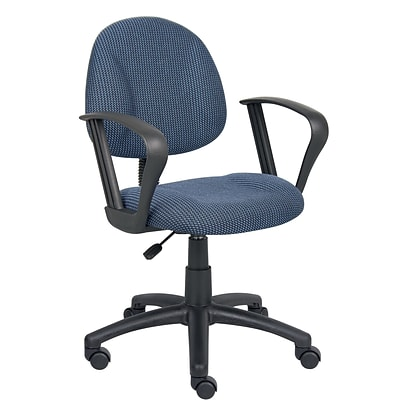 Boss® Blue Deluxe Posture Task Chair with Loop Arms