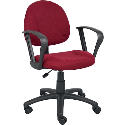 Boss® Burgundy Deluxe Posture Task Chair with Loop Arms