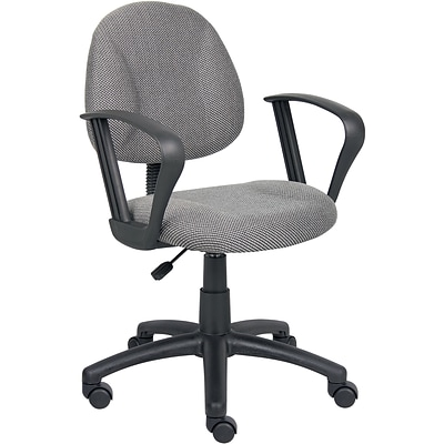 Boss® Grey Deluxe Posture Task Chair with Loop Arms