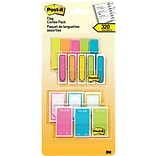 Post-it® 1/2 and 1 Prioritization Flags, Red, Yellow, Green Combo Pack, 320 Flags in On-the-Go Dis