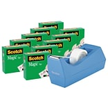 Scotch® Deluxe Tape Dispenser with Magic™ Tape Value Pack, Periwinkle