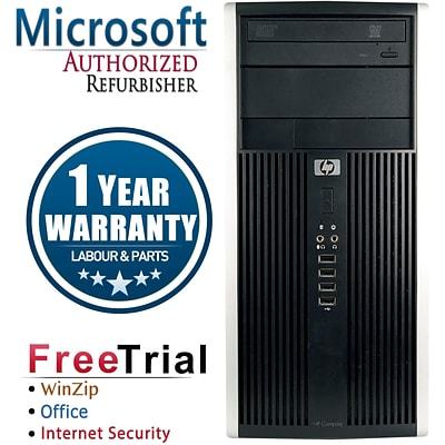 HP Compaq 6200 Pro Tower Refurbished Desktop Computer, Intel i3-2100 3.1GHz, 16GB RAM, 2TB HDD