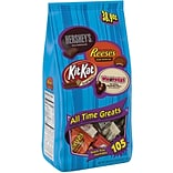Hersheys All Time Greats Snack Size Assortment (105 pieces), 38.9 oz.