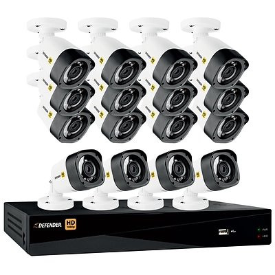 Defender HD 1080p 16 Channel 2TB DVR Security System and 16 Bullet Cameras with Web and Mobile Viewing