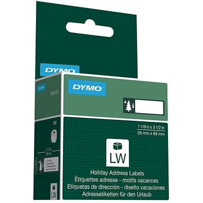 DYMO® Holiday Address Labels; Trees, Green, 130/Box