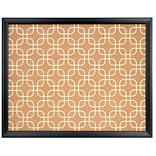 U Brands Fashion Cork Bulletin Board, 20 x 16, Black Finish Frame