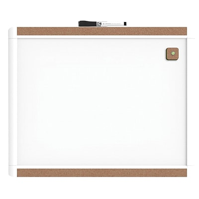 U Brands Pin-It Magnetic Dry Erase Board 20 x 16 White Frame