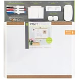 U Brands Pin-It Magnetic Dry Erase Board Deluxe Value Pack 20 x 16 White Frame