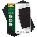 Fellowes Executive Binding Cover Letter, Black, 200 pack