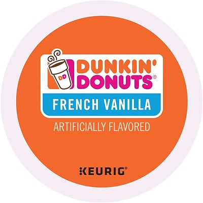 Dunkin Donuts® French Vanilla Coffee, Keurig® K-Cup® Pods, Medium Roast, 96/Carton (400847)