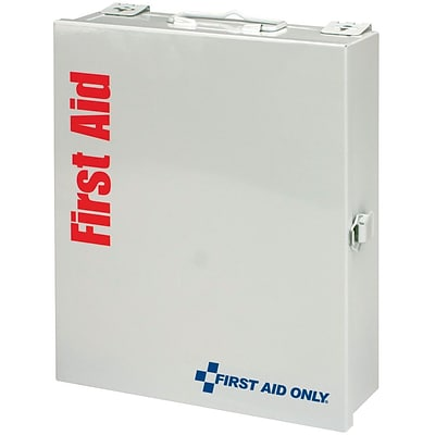 First Aid Only™ SmartCompliance Medium Food Service Metal First Aid Cabinet w/o Medications for up to 25 People (1350-FAE-0103)