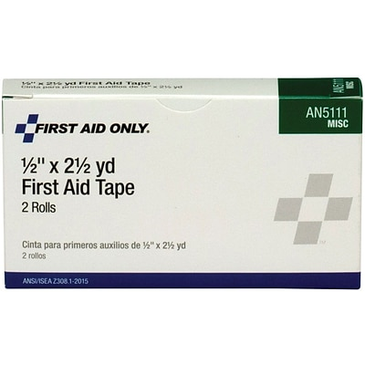 First Aid Only™ First Aid Tape, Paper, 1/2, 2/Box