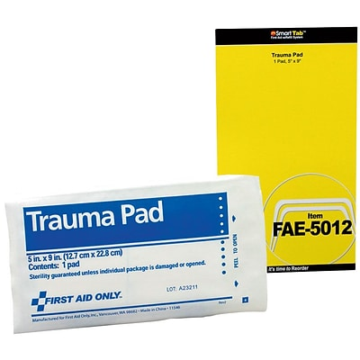 First Aid Only® SmartCompliance™ Refill, Trauma Pad, 5 x 9 (FAE-5012)