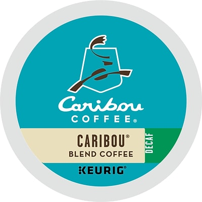 Caribou Coffee® K-Cup® Pods, Caribou Blend Decaf., 24/Box