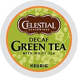 Celestial Seasonings® Green Decaf Tea, Keurig® K-Cup® Pods, Decaffeinated, 24/Box (14737)