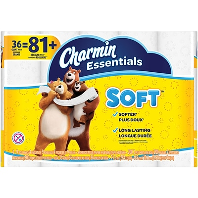 Charmin Essentials Soft™ Toilet Paper, 2-Ply, 200 Sheets/Roll,  36 Giant Rolls/Pack (96479)