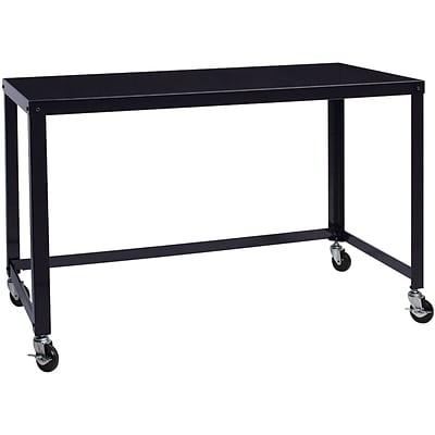 Office Dimensions 48 Wide Mobile Metal Desk; Black