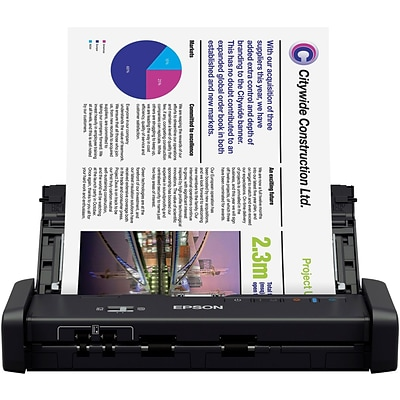 Epson® WorkForce ES-200 B11B241201 Portable Duplex Document Scanner with Automatic Document Feeder