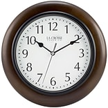 La Crosse Clock 10 In Brown Solid Wood Analog Wall Clock (404-2625)