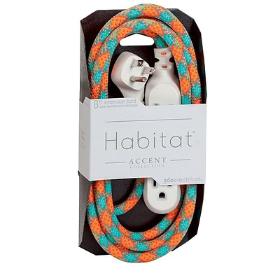 360 Electrical Habitat™ Braided Extension Cord (Accent)(8 - Poppy Fields)