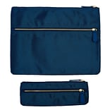 Office by Martha Stewart™, Double Zipper Pouches, Navy Blue, 2/Pack (50390)