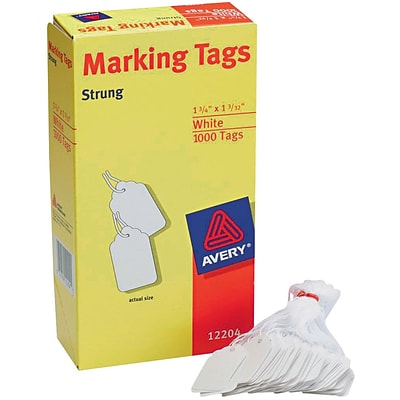 Avery White Marking Tags; 1-3/4x1-3/32