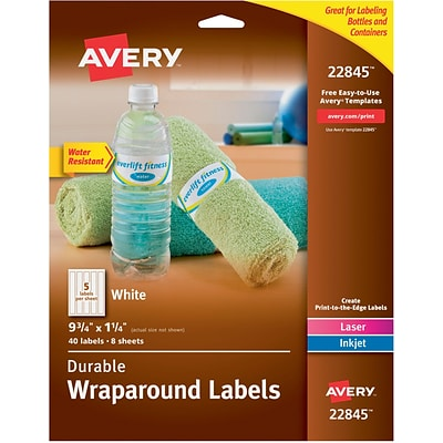 avery durable wraparound labels 9 34 x 1 1