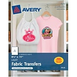 Avery® 3271 Inkjet Light Fabric Transfer Paper, 8-1/2 x 11, 6/Pack