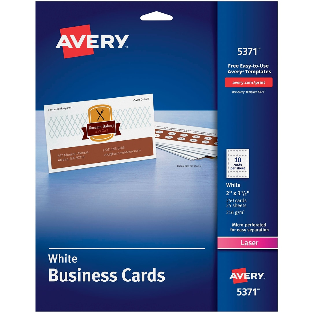 Avery 5371 business cards quill this web site is intended only for use by us residents alramifo Image collections