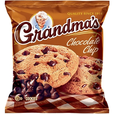 Grandmas® Homestyle Chocolate Chip Cookies; 2.5 oz. Bags, 60 Bags/Box