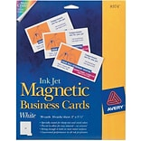 Avery® 2 x 3-1/2 Magnetic Business Cards