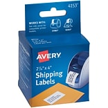 Avery(R) Shipping Labels for Dymo(R) and Seiko(R) Printers 04153, 2-1/8 x 4, Roll of 140