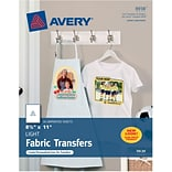 Avery® T-shirt Transfers for Inkjet Printers 8938, 8-1/2 x 11, 18/Pack